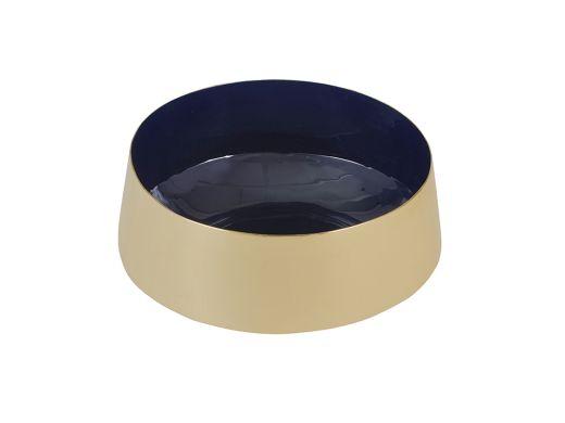Enamel Brass Bowl Navy