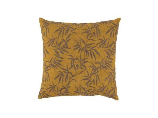 Foliage Cushion Cover Mustard