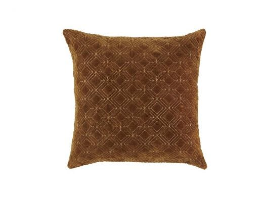 Velva Cushion Cover Mustard L