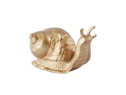 Gold Snail Ornament