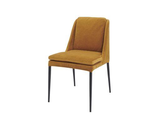 Vincci Chair, Ochre Velvet