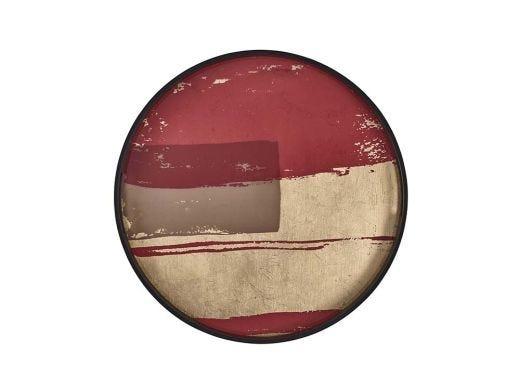 Rasberry Abstract Tray, Small