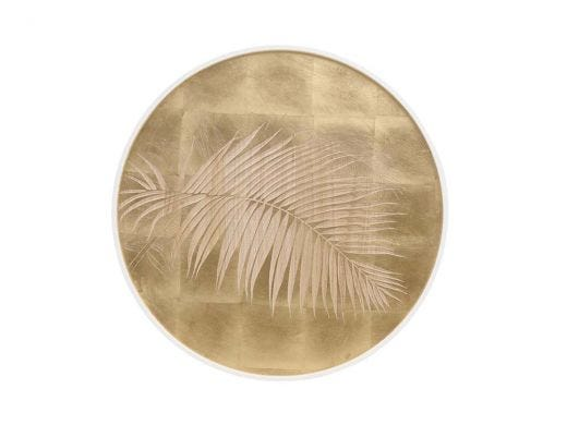 Palm leaves Round Panel