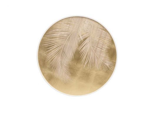 Palm leaves Top Round Panel