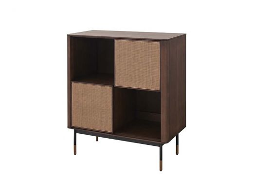 Parker Rattan 2 Doors Cabinet