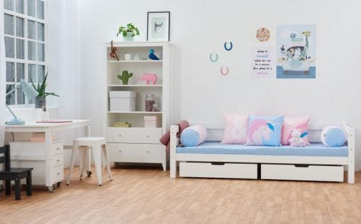 Hans Wardrobe 3 Shelves and 2 Drawers