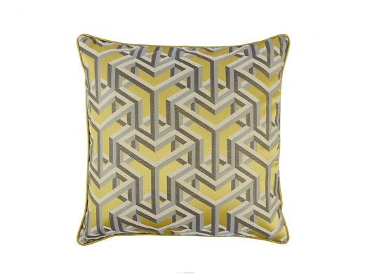 Dade Cushion Cover Yel - Pipe