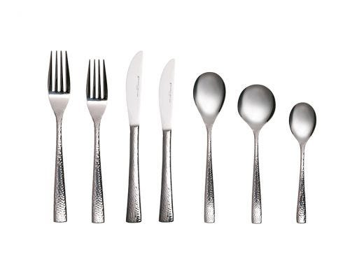 Hammered Cutlery Set 42pc