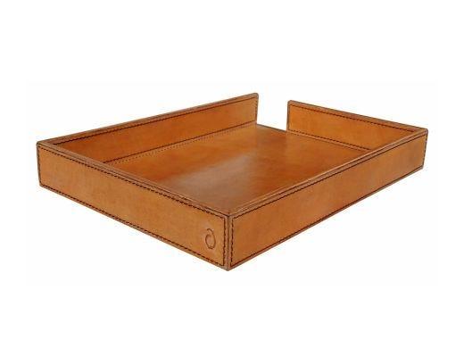 Marlon Leather Desk Tray