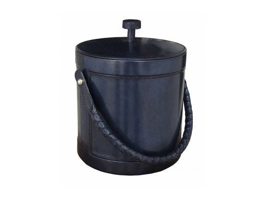 Prussian Ice Bucket, Leather