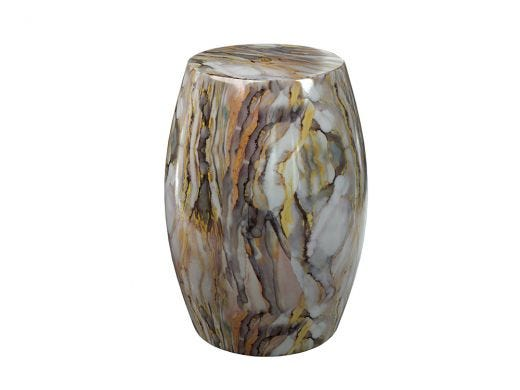 Abstract Marble Porcelain Stool