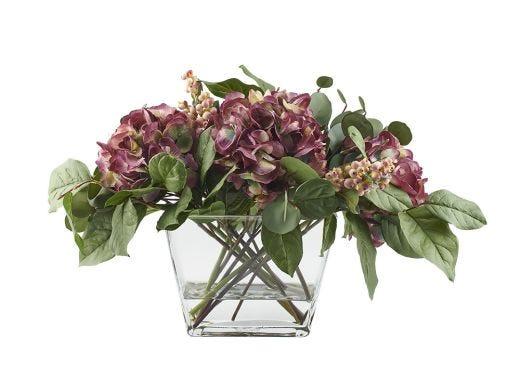 Holiday Hydrangea Floral Arrangement
