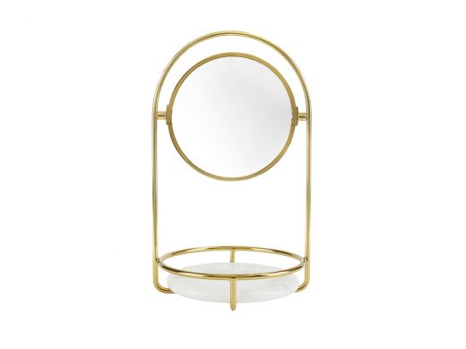 Hoop Mirror with Marble Tray