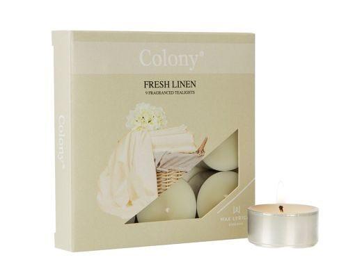 Fresh Linen Tealights 9 pieces