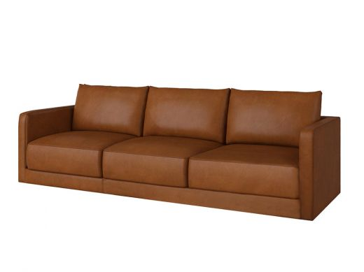 Basel 1 Seat Left Arm, Old Saddle Nut Leather