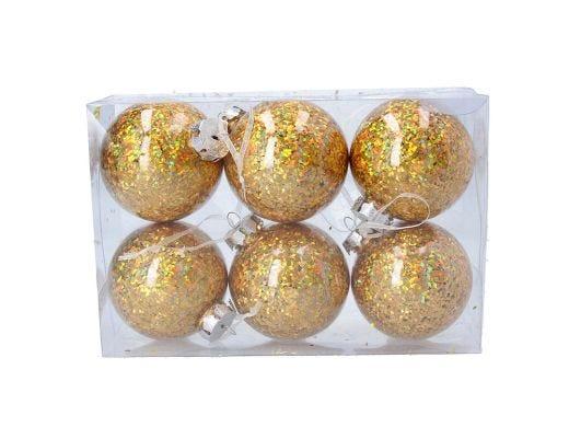 Hologram Gold Ball Set of 6
