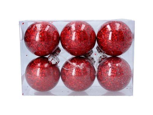 Hologram Red Ball Set of 6