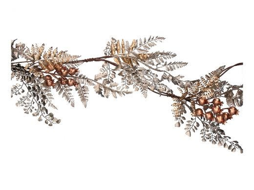 Copper Ferns & Berries Garland