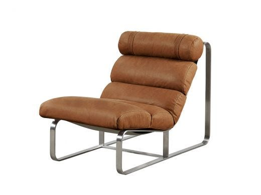 Fergus Leather Chair, Oxford Spice