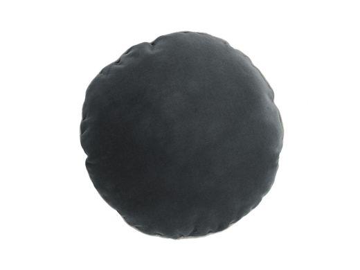 Velvet Tonal Grey Round Cushion