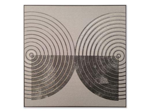 Circles on Linen Artwork