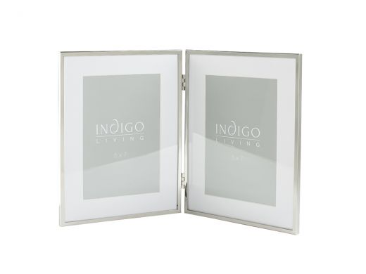 Elegant Twin Frame, Silver 4x6