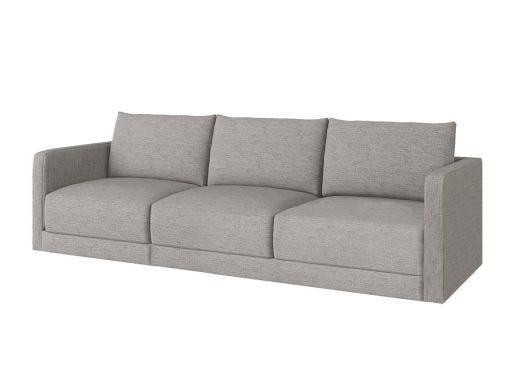 Basel 1 Seat Left Arm, Eton Stone Woven Fabric