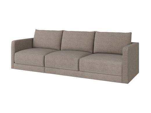 Basel 1 Seat Left Arm, Eton Flax Woven Fabric