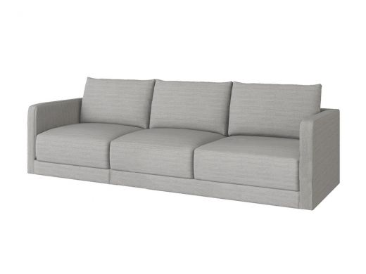 Basel 1 Seat Left Arm, Eton Oyster Woven Fabric