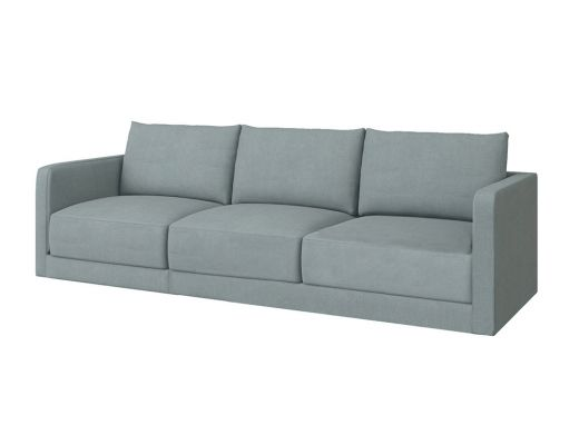 Basel 1 Seat Left Arm, Cambridge Blue Velvet
