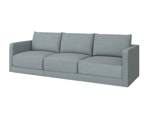 Basel 2 Seat Right Arm, Cambridge Blue Velvet