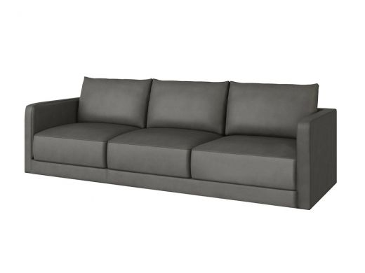 Basel 1 Seat Left Arm, Cortina Charcoal Leather