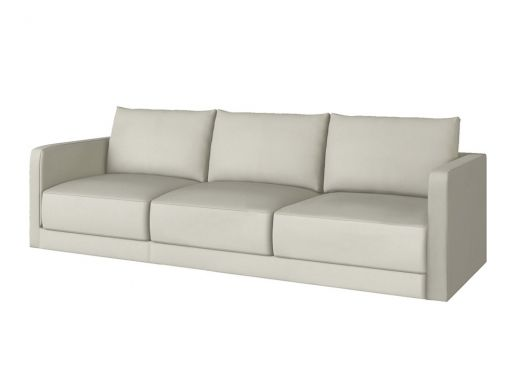 Basel 1 Seat Left Arm, Cortina White Leather