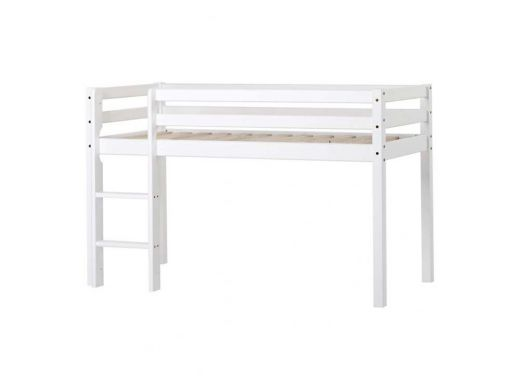 BASIC Half High Bed Non-Divisible, 90x200 White
