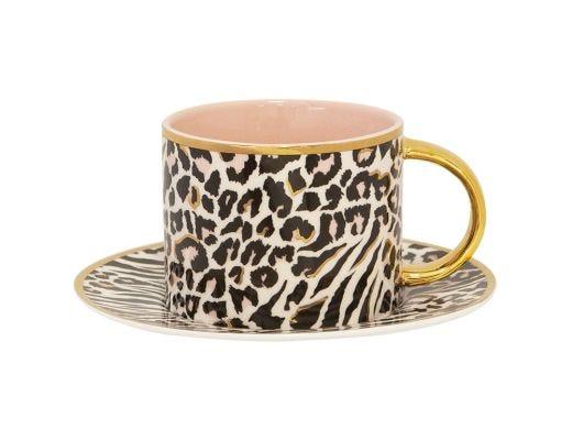 Safari Leopard Teacup & Saucer