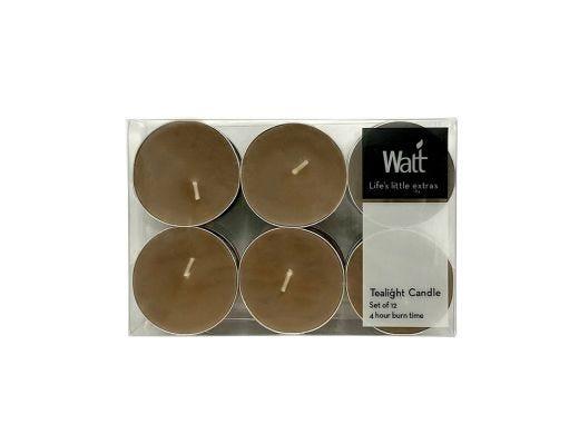 Walt Tealight Box of 12 pcs, Taupe