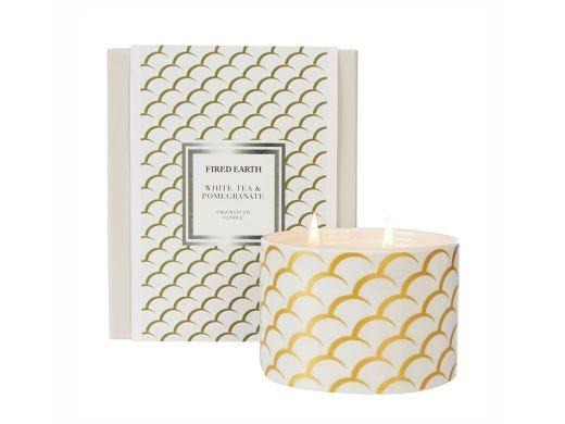 White Tea & Pomegranate Candle Ceramic