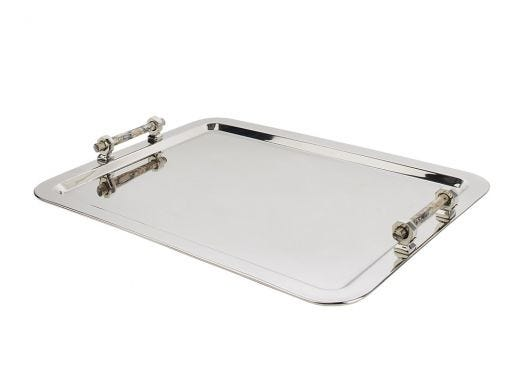 Tray with Pink Abalone Handle