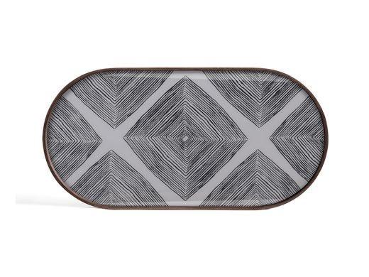 Slate Linear Oblong Glass Tray