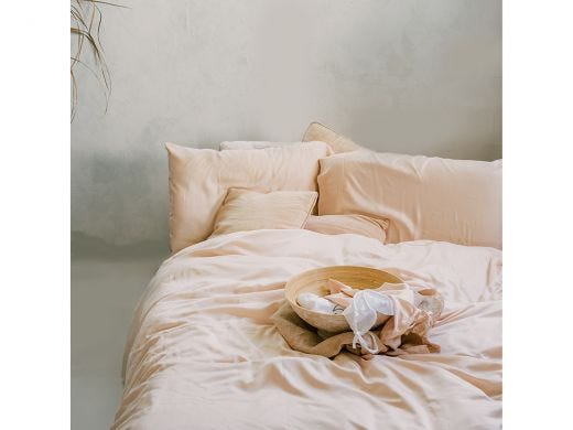 Pia's Pink Bedding Set, 100% Bamboo Double