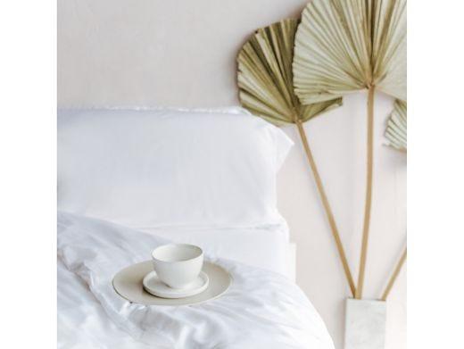 Feather White Bedding Set, 100% Bamboo Double