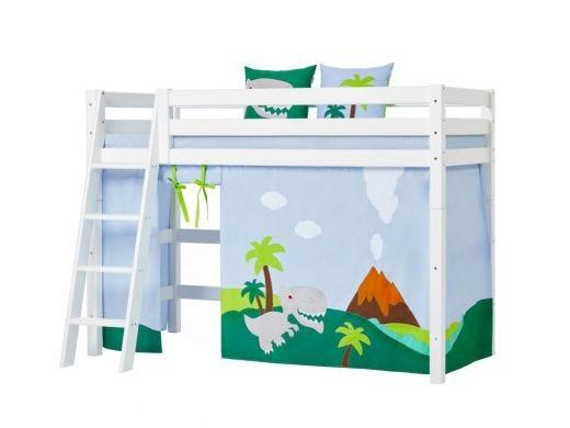 Dinosaur Curtain Mid High bed, 90x200