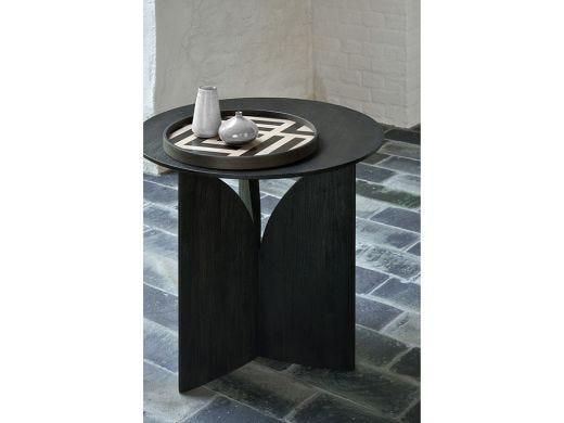 Fin Side Table, Teak Black