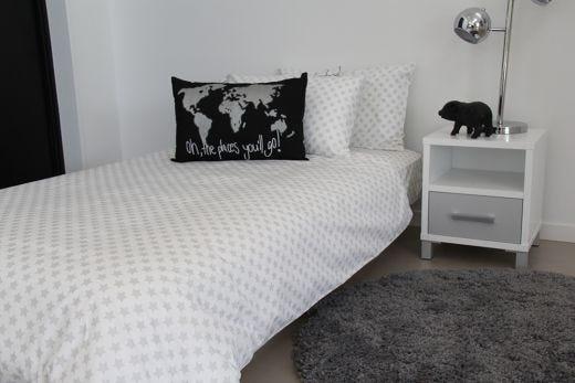Silver Star Duvet, Pillowcase & Fitted Sheet Set