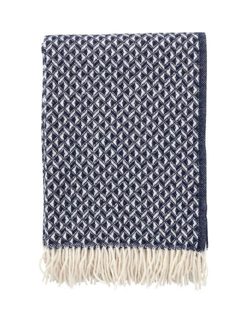 Anna Lambs Wool Throw - Blue