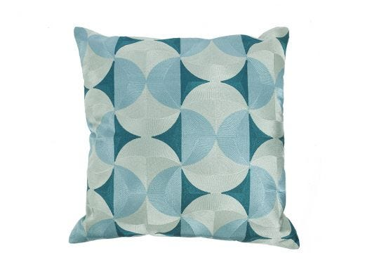 Sleek Curve Cushion Cover Blue