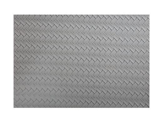 Grey Plait Placemat 45x30cm