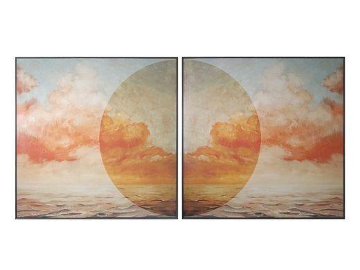 Horizon Clouds Artwork, Set of 2
