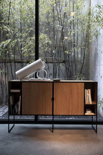 Dice Low Cabinet, Oak