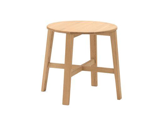 Edge Round Lamp Table, Oak